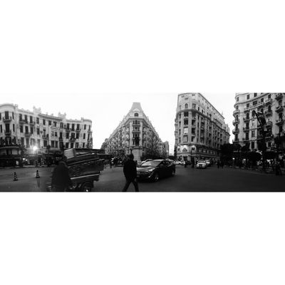 Architecture City Built Structure Outdoors Building Exterior Sky Day Clear Sky People Mobilephotography Egyptpresent P8lite Downtown 360 Panorama Blackandwhite