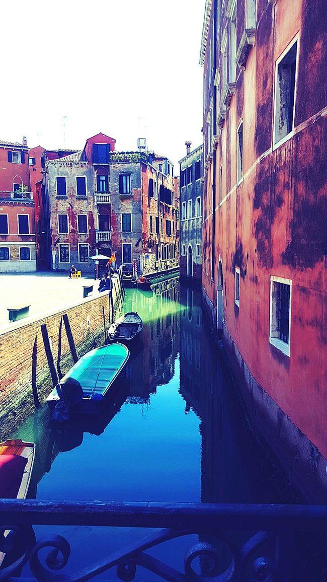 Bridge Water Canal Venice Building Street Boats Boat Italy