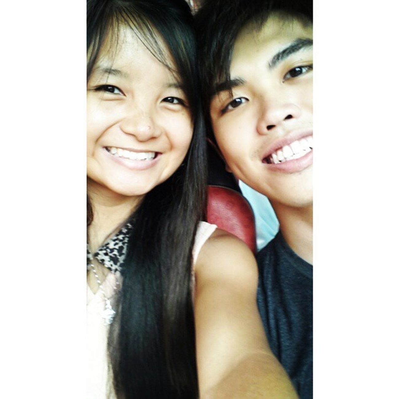 With @jyangsaw Ps: He say this effect makes his teeth look whiter so is nicer LOL. Whiteteeth Loves Friday Inbus tgif
