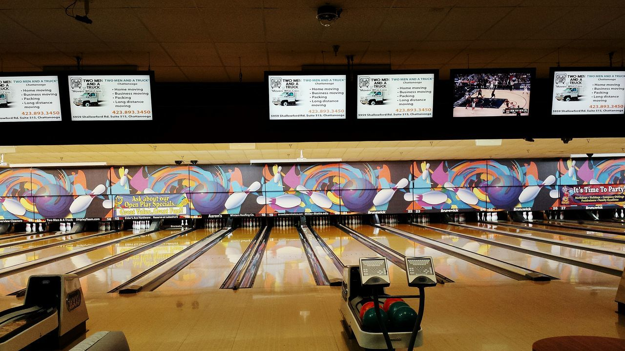 Multi Colored Indoors  Architecture Bowling Alley