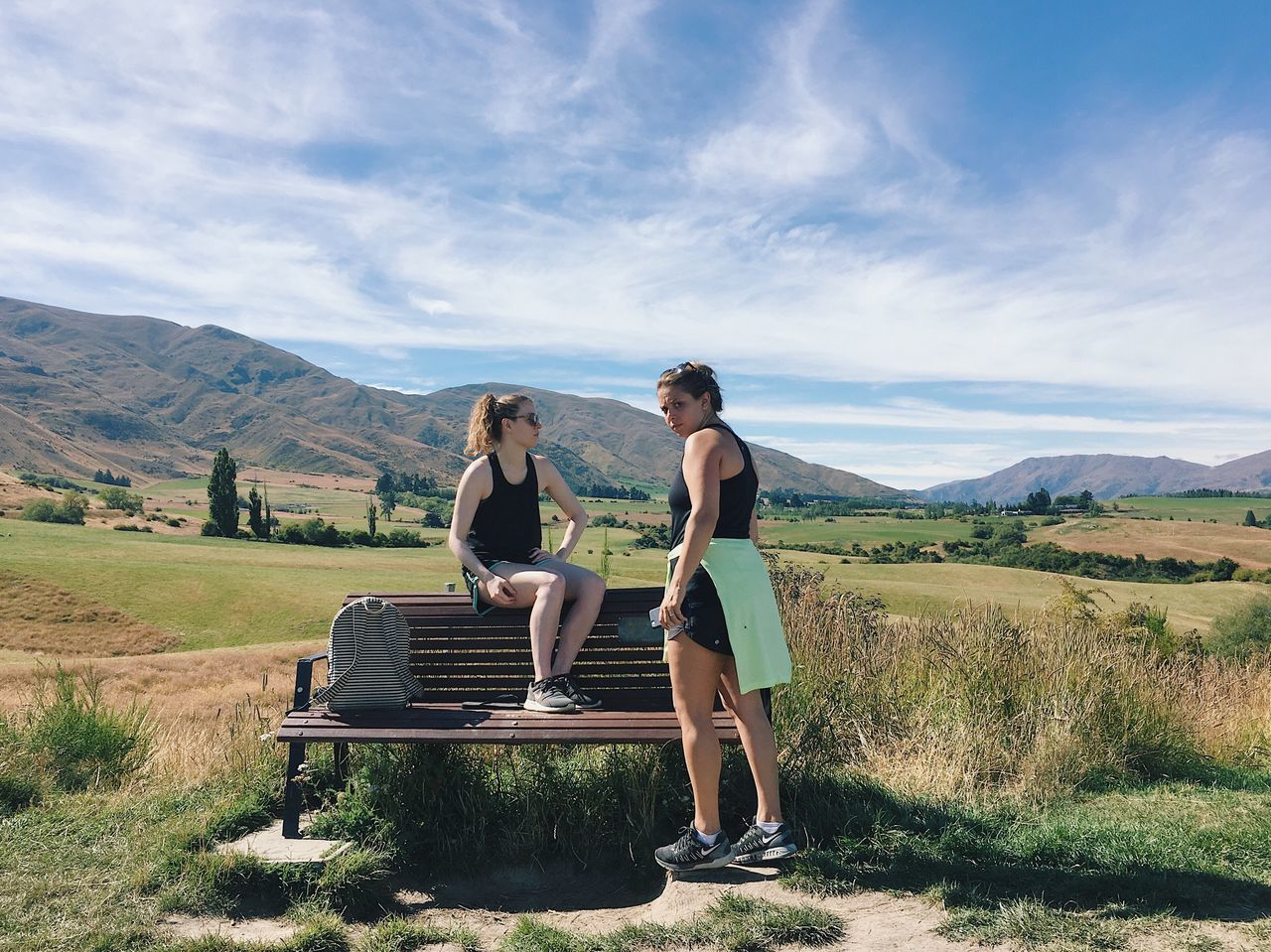 Women Exercise Hiking Fitness Nature Two People Full Length Scenics Leisure Activity Rural Scene Beauty In Nature Landscape Non-urban Scene