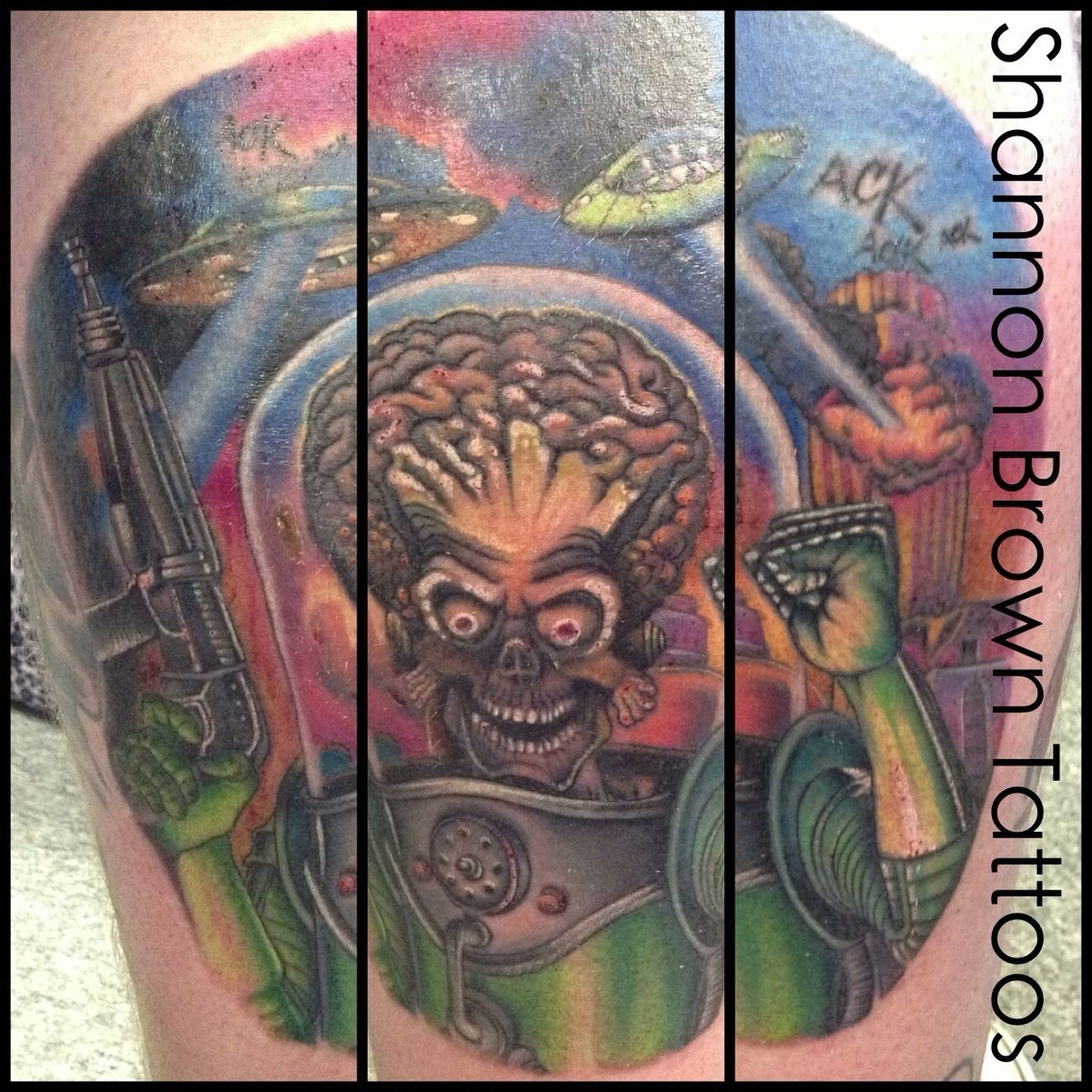 Tattoo New Tattoo Mars Attacks Tattoos By Shannon Brown