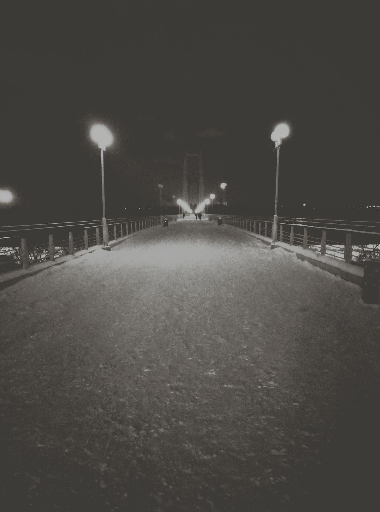 Night Illuminated Outdoors Россия Russia Bw черно-белое красноярск Krasnoyarsk мост фонари смметрия