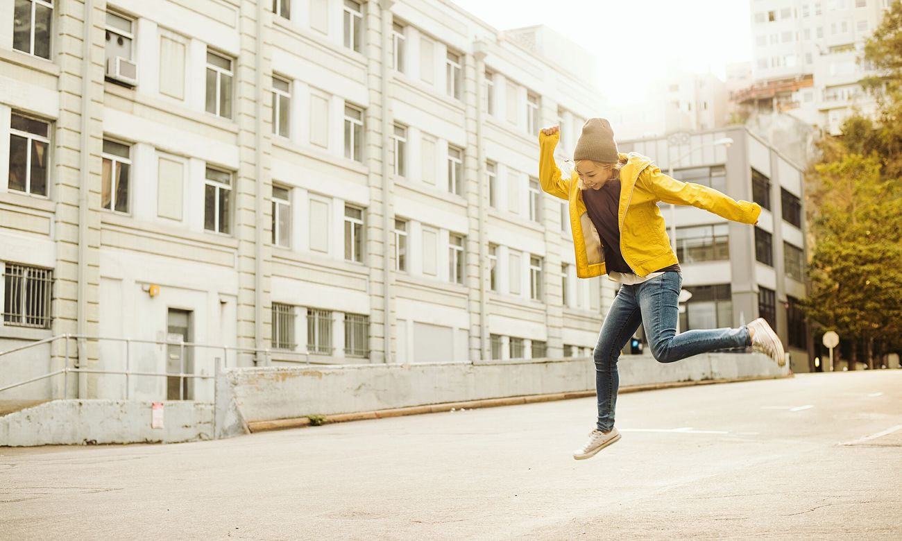 Yaahooo!!! Was a fun photoshoot with friend...Picturing Individuality People Fun Girl Color Portrait Smile Outdoors Woman Yellow San Francisco Portrait Portrait Of A Woman Light Leaves Daylight Urban City Happy Fall Jump Morning Flying
