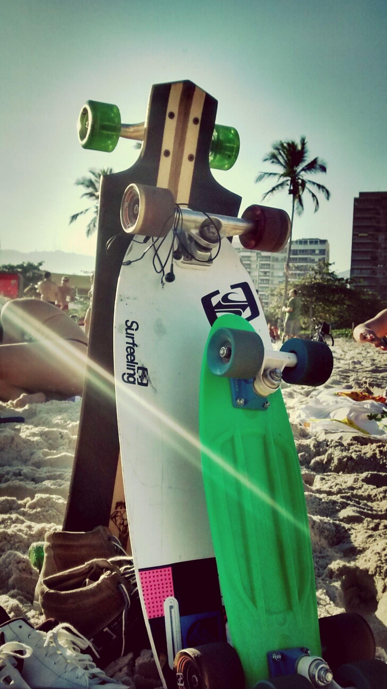 Beach Skate Sunny Day Errejota  #longboard #penny