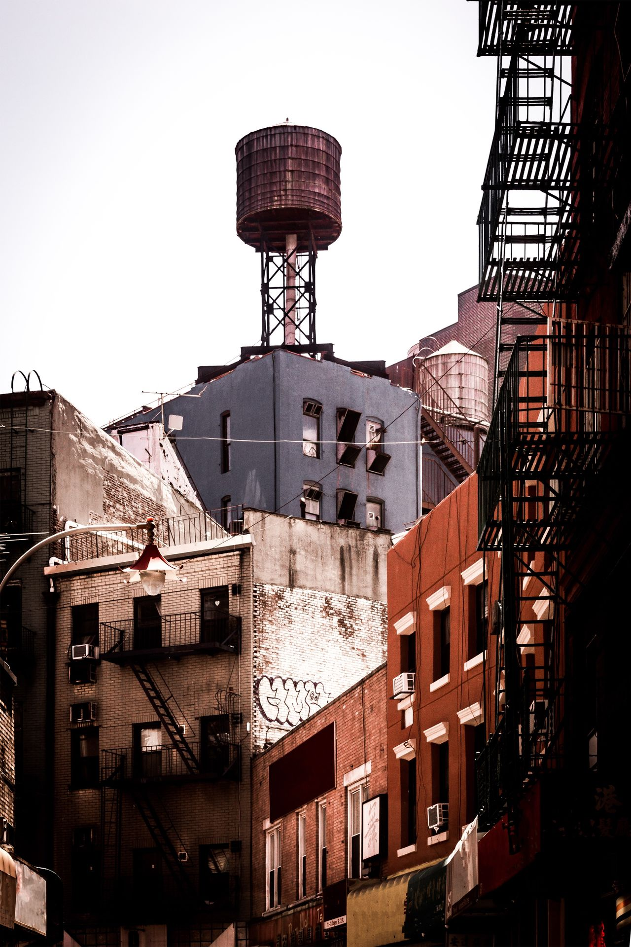 Architecture Building Exterior Built Structure No People Outdoors Day Clear Sky City Sky Cityscape City Life Downtown District Water Tower - Storage Tank Water Tower New York