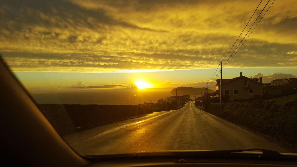 Sunset... Sunset Road Sky Sun Sunsets Terceira Island Angra Outdoors Angra Do Heroismo Sunlight Sea Nature Water No People Orange Color Orange Sky Travel Orange Sunset Terceiraisland