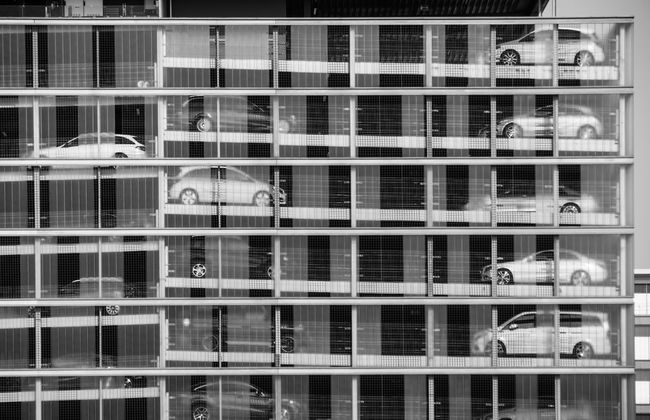 Architecture B&w Backgrounds Black And White Building Built Structure Car City City Life City Life Close-up Full Frame House Modern No People Outdoors Parkhaus Parking Parking Garage Repetition Side By Side