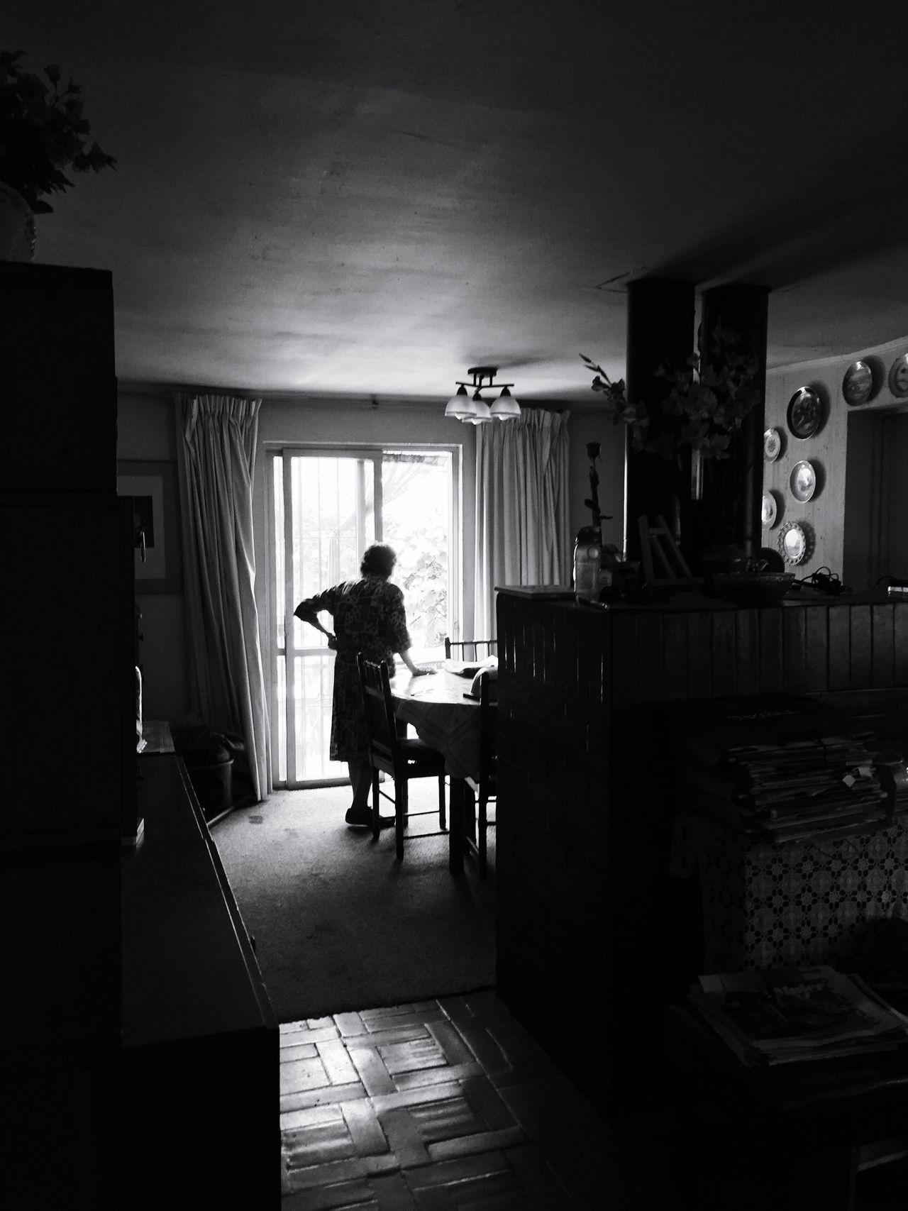 Abuela Indoors  One Person Day Grandma Abuela Blanco Y Negro Claroscuro Las Condes Chile