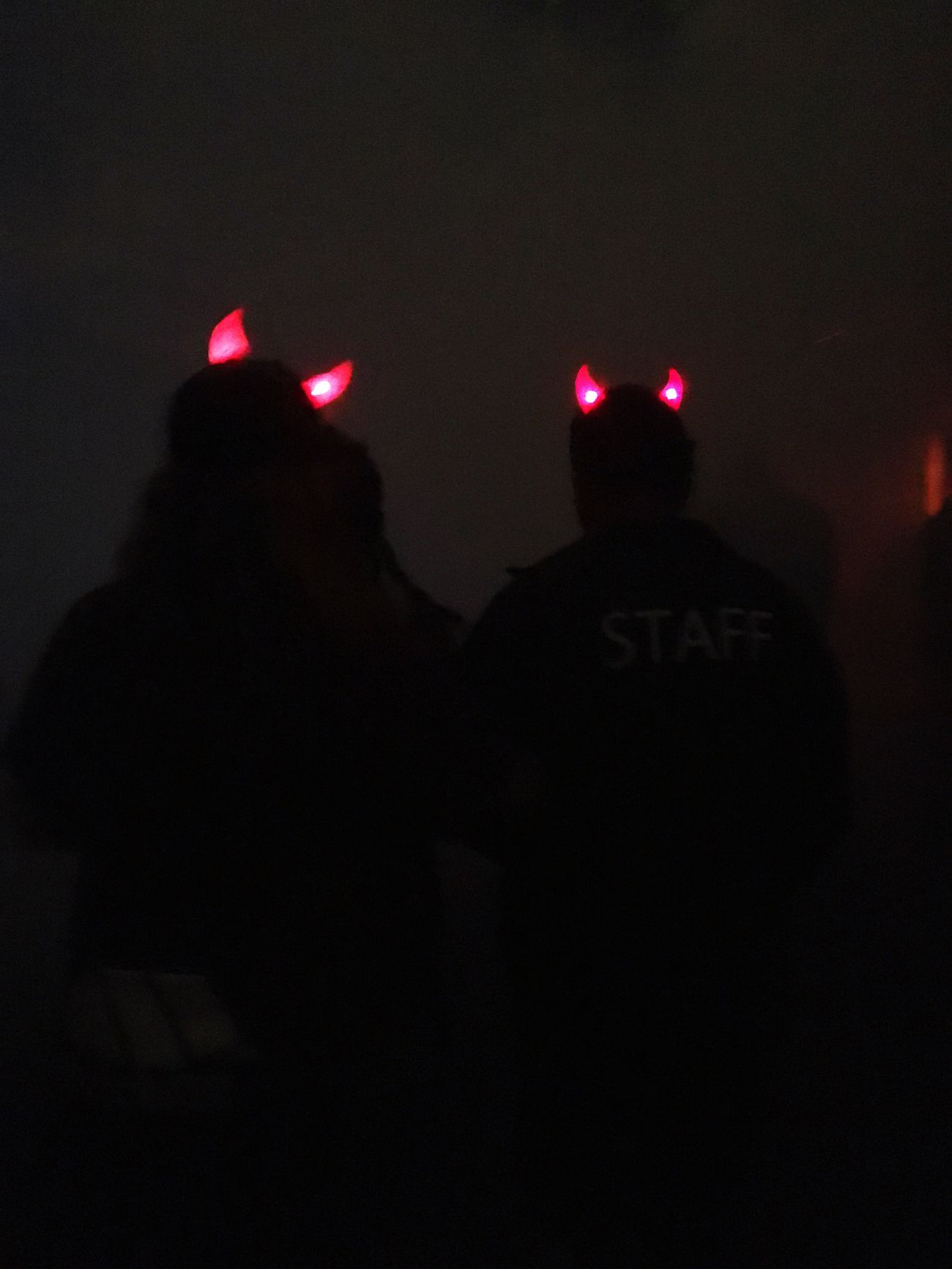 Hollween Scary Places Night Devil Horns Dark