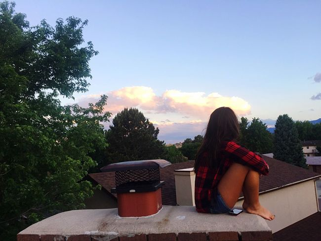 Sunset dreamin' Sun Sunset Roof Rooftop Dreaming Bliss Peace Color Colorado