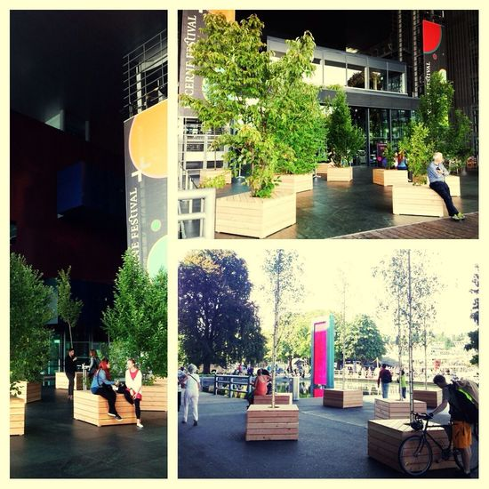 Love the mobile Tree Design at the KKL in Luzern, so simple and effective. Meeting Design Socializing