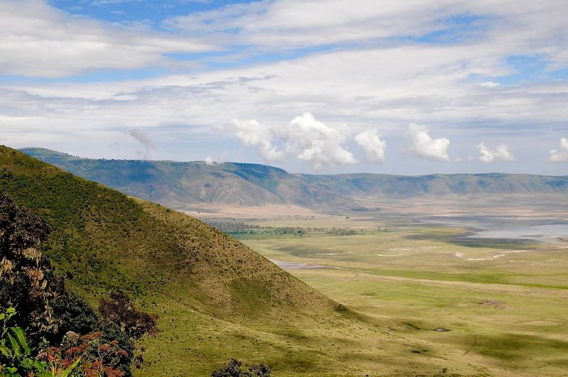 Crater Ngorongoro Crater Beauty In Nature Clouds Landscape Landscapes Micro Climate Mountain Nature No People Outdoors Scenics
