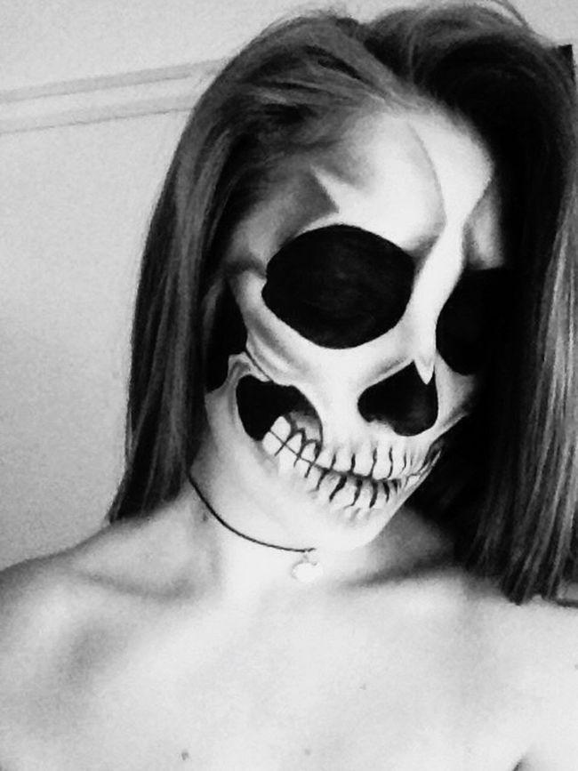 💀💕 First Eyeem Photo Skull Girl Makeup