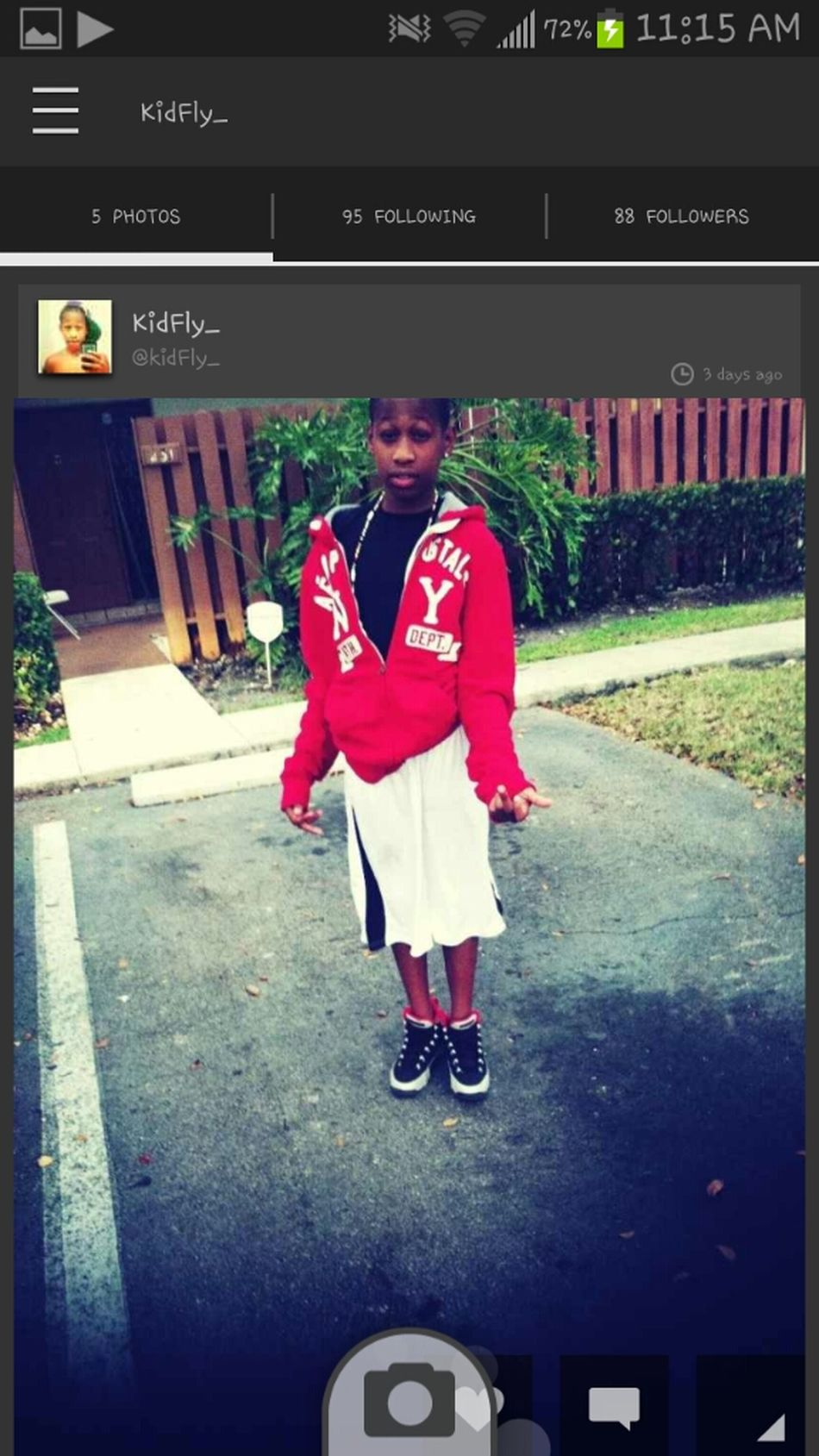 S/o To My Lil Brother He Cool So Wat Ever Yall Doin Goo Foollow Him Now!!! @kidFly_