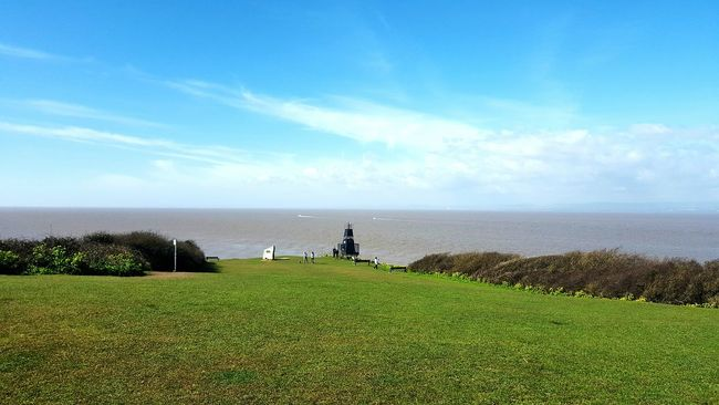 Lighthouse Here Belongs To Me Seaside English Countryside Sky Nature Landscape Sky And Clouds Water Sea And Sky Sea Taking Photos By The Sea Clouds Blue Sky Landscape_Collection Fields Countryside Walk Boats Boats In The Distance People People Watching People Photography