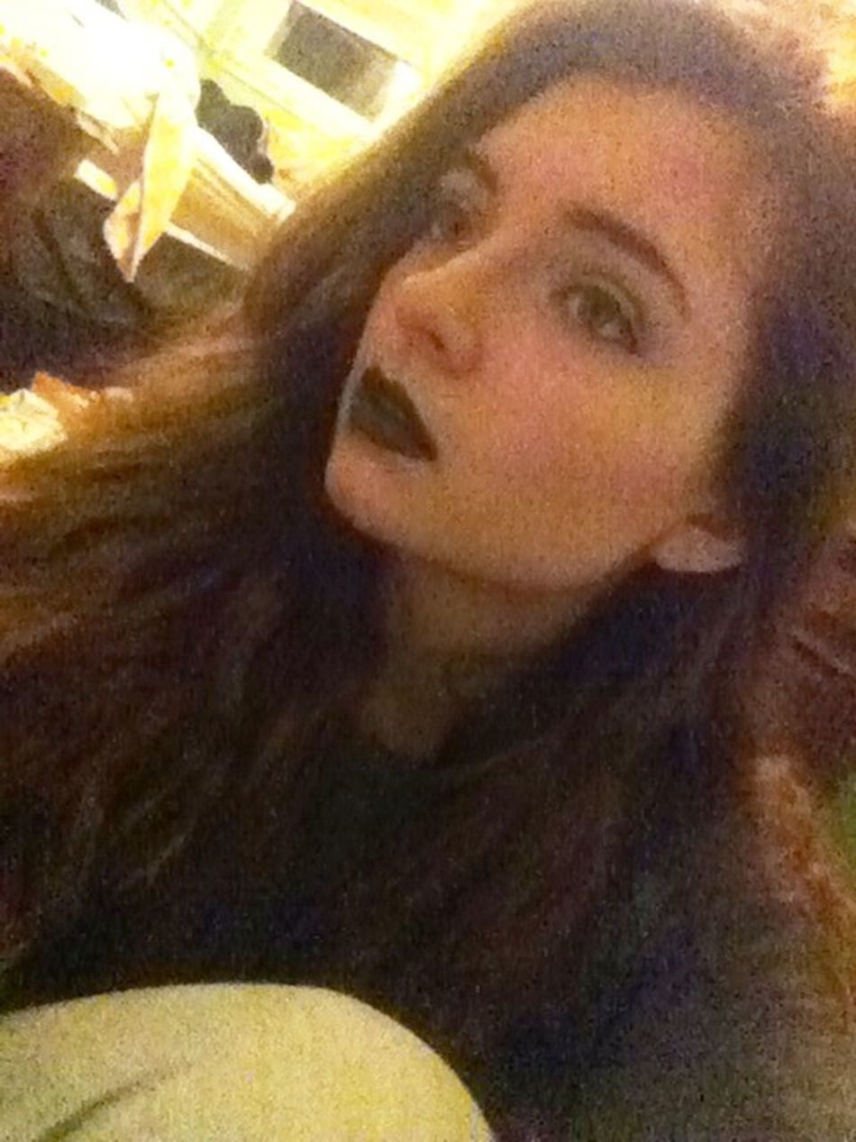 """She was like the moon, part of her was always hidden away"" Black Lipstick"