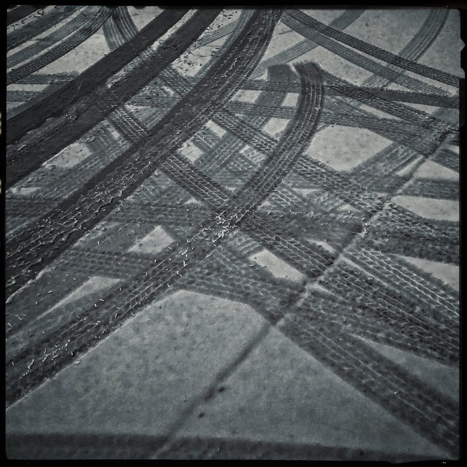 Making tracks Blackandwhite Hipstamatic Winter Snow