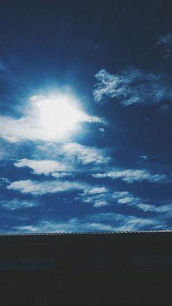 Paisajes Nuves Cielo Azul Vintage