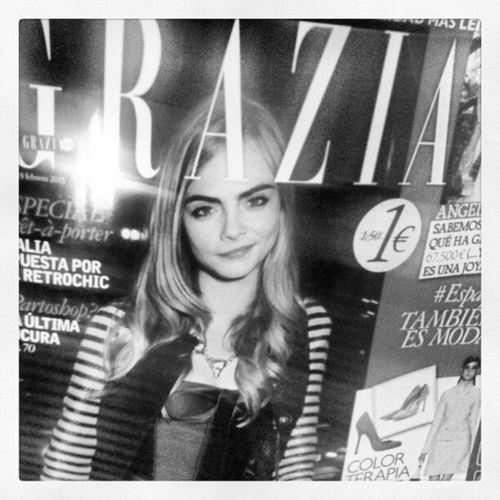 Ya en mis manos! Grazia Delevingne 13 February 2013