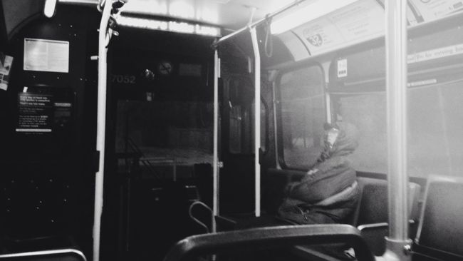you think you're alone // my terrible grainy photo is proof you're not Blackandwhite Nouseforaname / All A Blur Toronto Transit Snaps