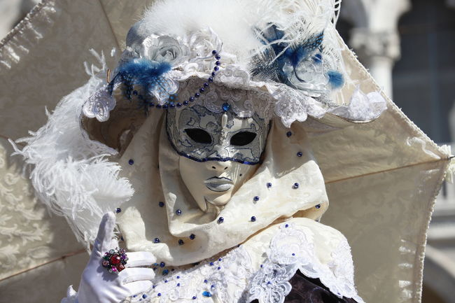 Carneval Creativity Focus On Foreground Fragility Mask Venice Carnival Venice, Italy White
