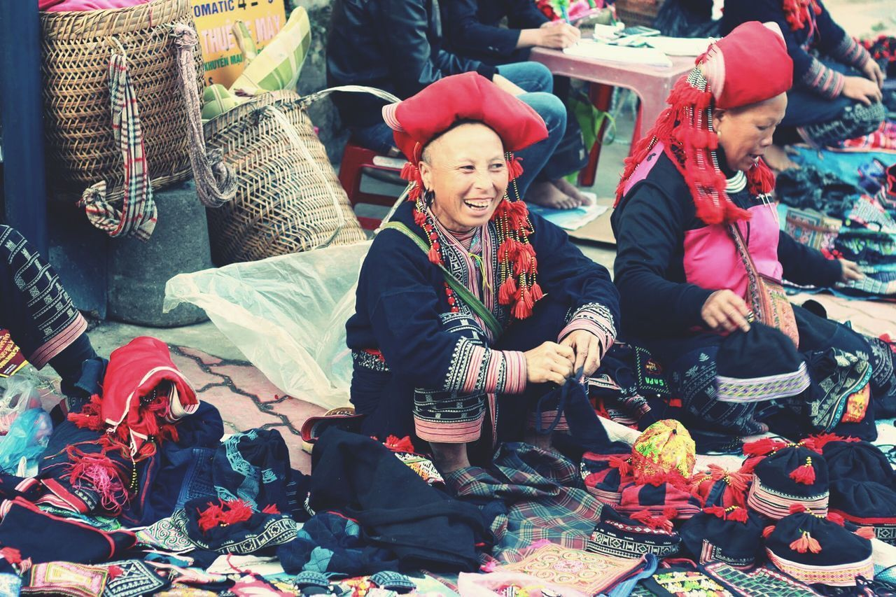 Smile @Sapa vietnam Smile Smily Smile Naturel Adult Warm Clothing People Abundance Knit Hat Business Finance And Industry Winter Christmas Present Christmas Candid Adults Only Choice Two People Full Length Happiness Gift Smiling Outdoors Sitting Togetherness