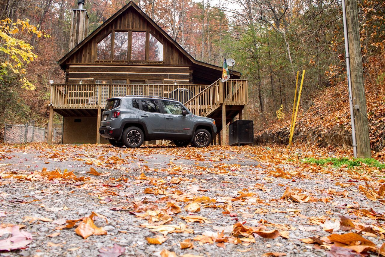 Smoky Mountains Cabin. One day before the fire. Tree Car Change Autumn Transportation Leaf Land Vehicle No People Day Outdoors Pick-up Truck Nature Cabin Jeep Jeep Life Tennessee Smoky Mountains Gatlinburg Tennessee Gatlinburg