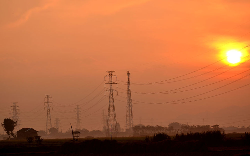 Sunrise at Rembang, Indonesia INDONESIA Landscape_Collection Nature Photography Travel Travel Photography Beauty In Nature Cable Central Java Day Electricity  Field Landscape Nature Nature Photo No People Outdoors Rembangmelawan Rice Field Sunrise Sunset Travel Destinations