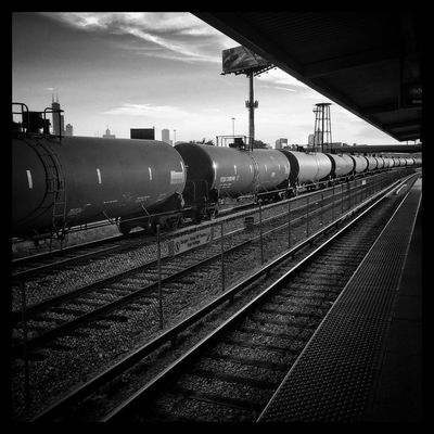 While I'm further away from you. Thinking Of Her Chicagostreets Chicago Black And White Photography I See Black And White Blackandwhite Train Throughmyeyez Clouds And Sky Windycity