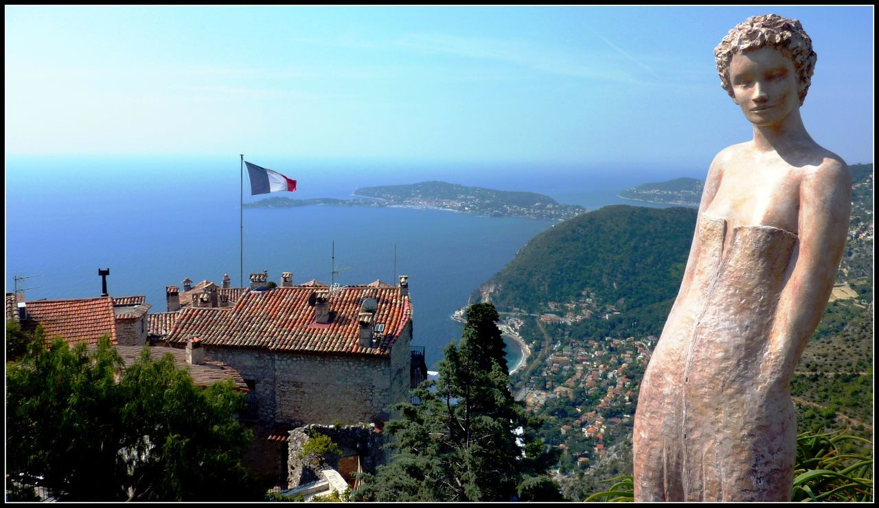 Coastline Eurotrip Eze, France High Angle View Medieval Château Perfect Day Scenics Sea Travel Photography
