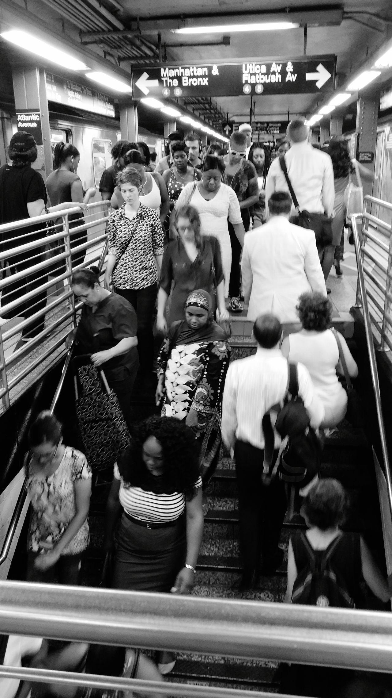 City Life Rush Hour 4 Train People Atlantic Terminal Still Life People Photography