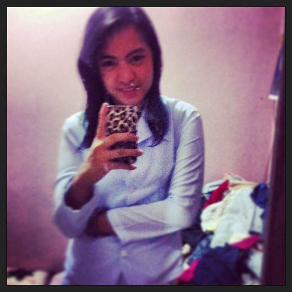 First day. :> superduper inet. Hahaha! Nle Boardexam 1stday Whiteuniform gala pagoda misu
