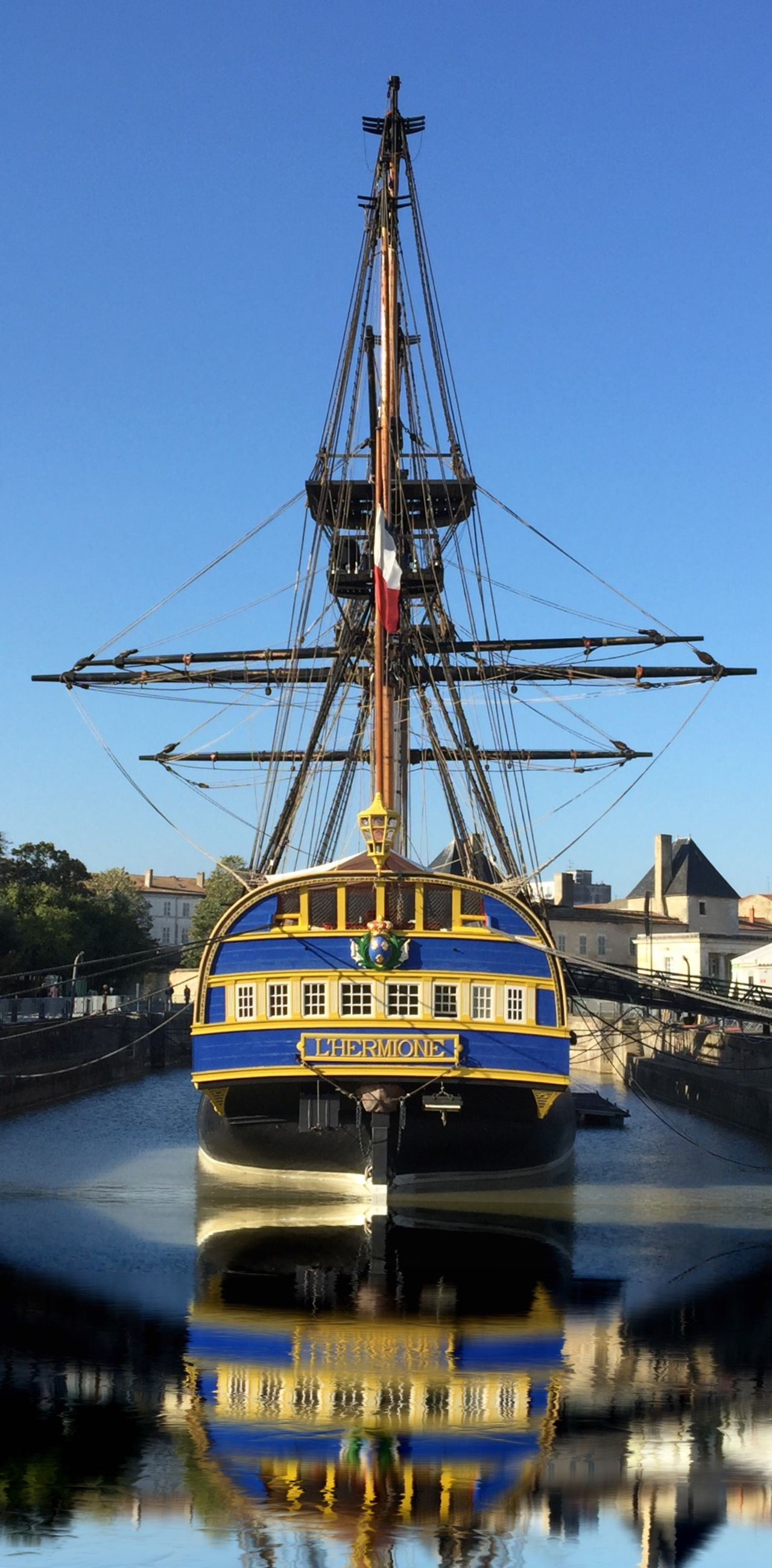 Hermione Boat Harbour Blue Blue Sky Fregate