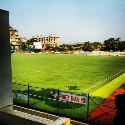 Thats one hell of a ground we've got here at chowgules Irix2012 Dmodar