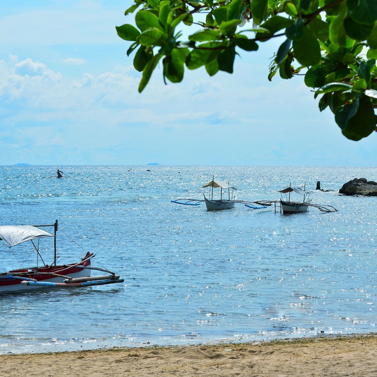 Beautiful stock photos of philippines, Beach, Beauty In Nature, Boat, Branch