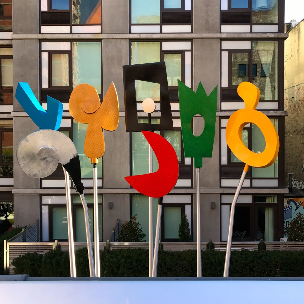 No People Day Building Exterior Communication Architecture Outdoors City Road Sign Close-up EyeEm Best Shots New York New York City New York ❤ Travel Multi Colored High Line Park High Line Manhattan Colors Colorful Colour Of Life Art ArtWork