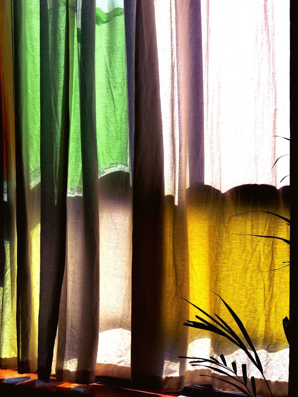 curtain, drapes, window, indoors, textile, fabric, no people, day, multi colored, close-up