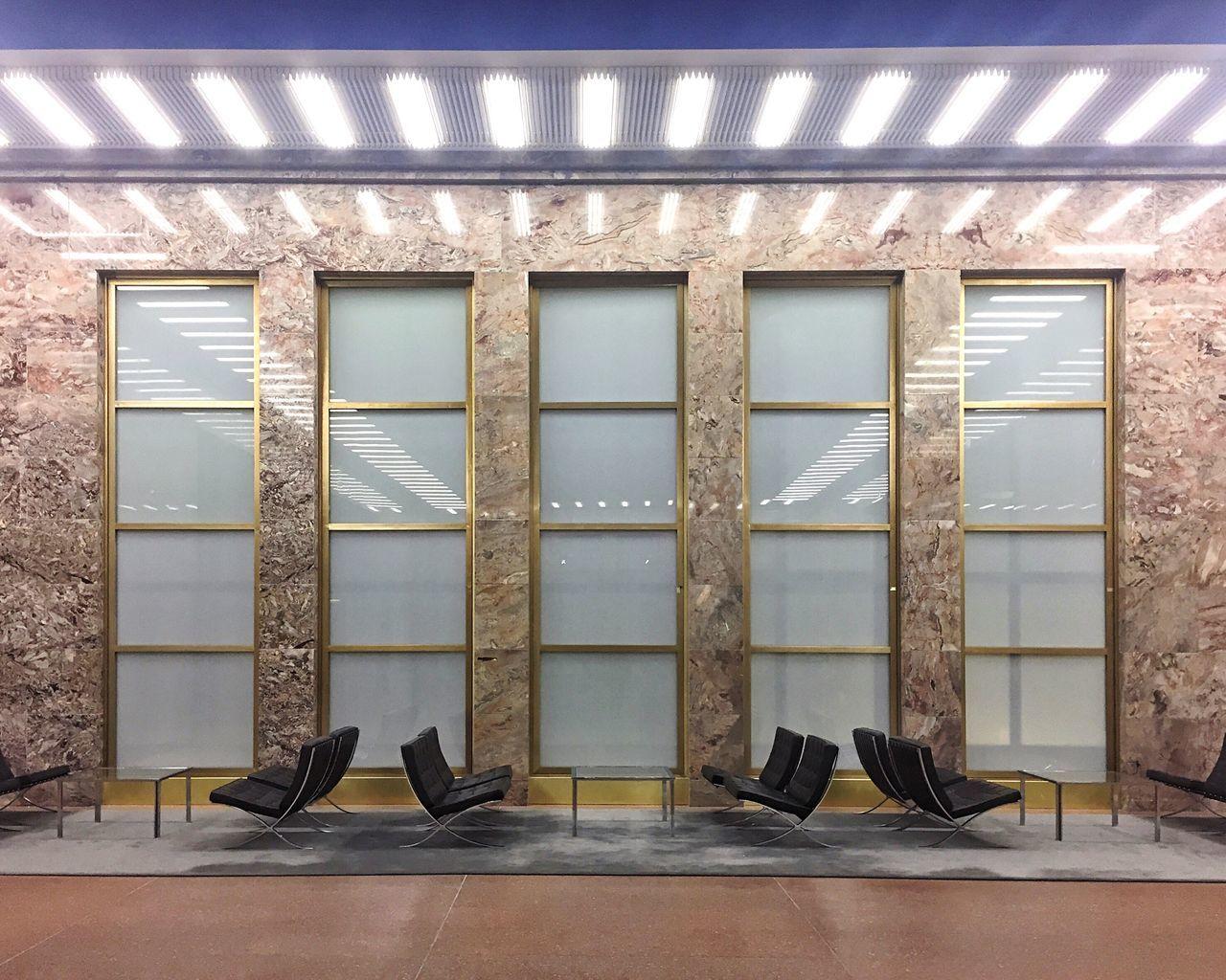 No People Architecture Marble Barcelonachair Mies Van Der Rohe