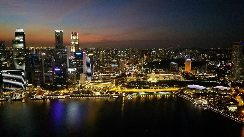 Singapore Marina Bay Sands Singapore Skyline Singapore By Night View From Marina Bay Sands Hotel EyeEmNewHere