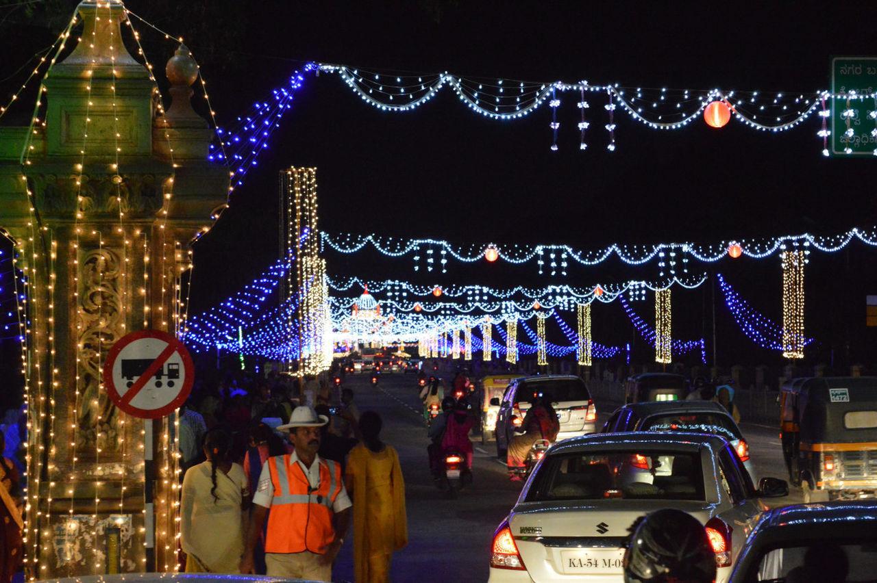 Light Effect Streetphotography Diwali Lights Celebration Multi Colored Indian Festival Night Illuminated Outdoors People Sky