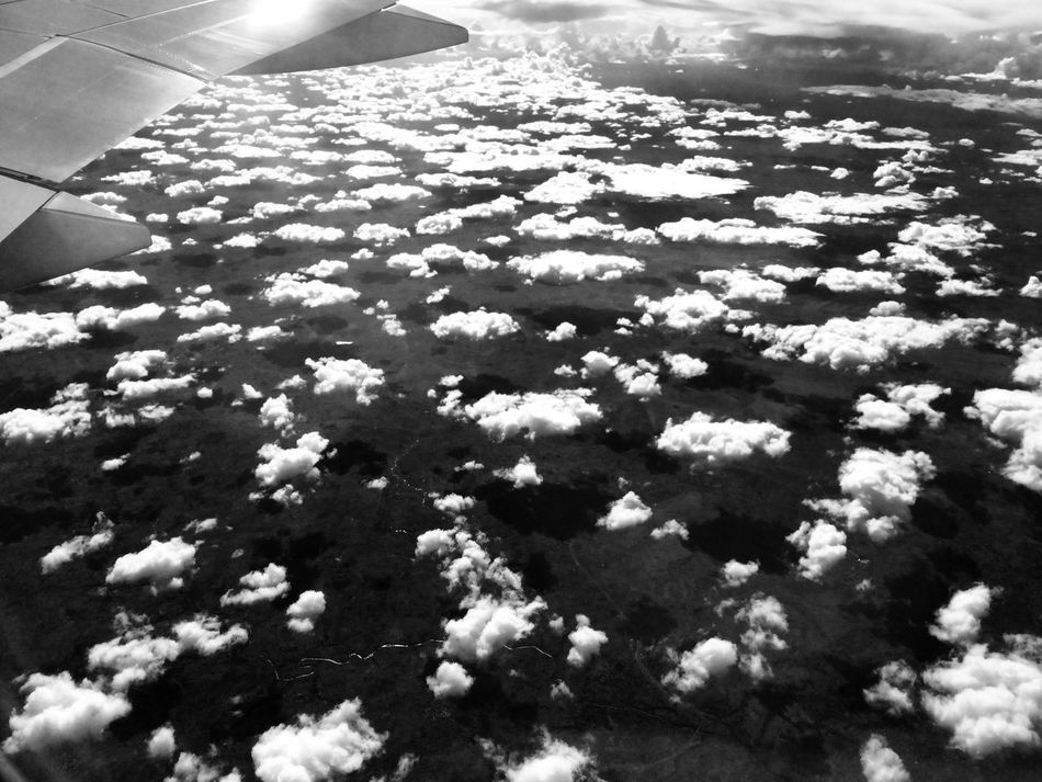 Deceptively Simple Flying Sky Clouds Clouds And Sky Light And Shadow Plane Africa
