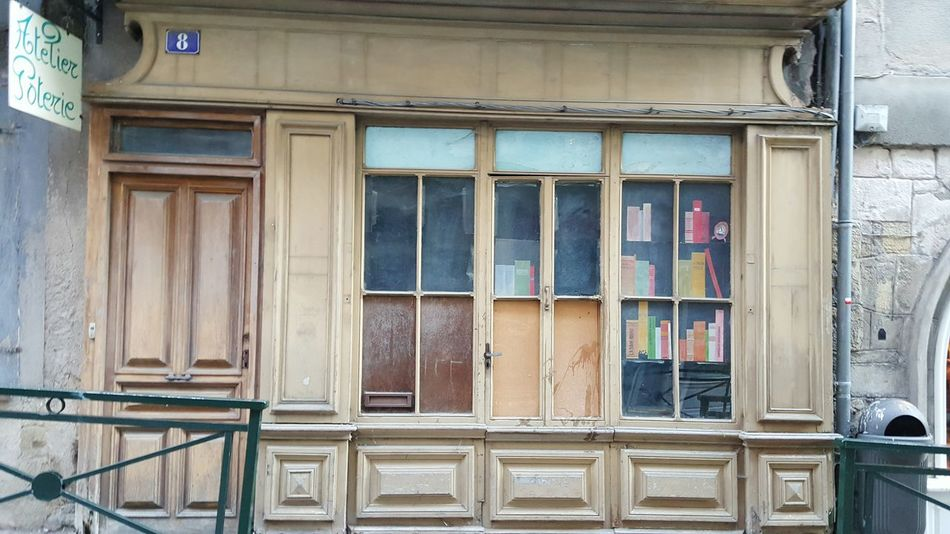 Vitrine Building Exterior Window Architecture Built Structure Door Outdoors Aveyron France Villefranche De Rouergue Wood - Material Street Photography Facadelovers Cityscape Cityscapes Architecturelovers Old Town Architecture_collection Architectural Feature City Architecture No People