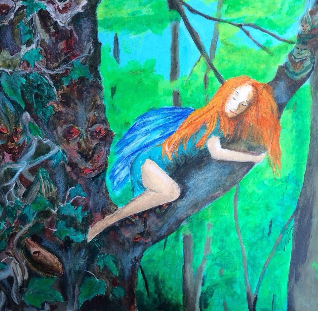 Just sleeping in the forest...🌲🌲🌲 what's your favorite Place for a sleep??? Outdoors Nature Elf Drawing Picture Forest Sleep Favorite Places