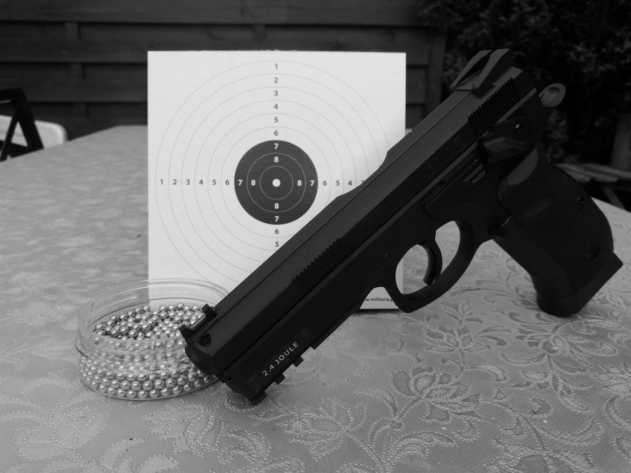 Shotgun Black & White Taking Photos HuaweiP9 Shield Pellets Close-up No People