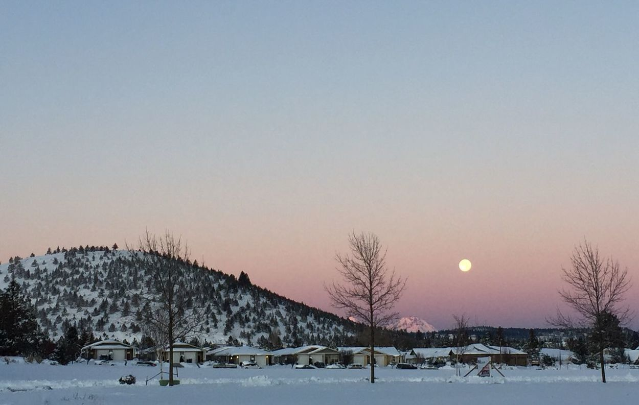 Moon At Sunrise Snow Winter Nature Outdoors No People Moon Beauty In Nature EyeEmNewHere