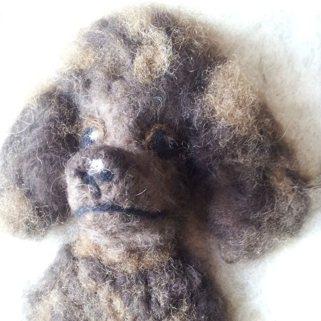 Attempt to make a poodle...... Handmade By Me Dogs Needle Felted Hello World
