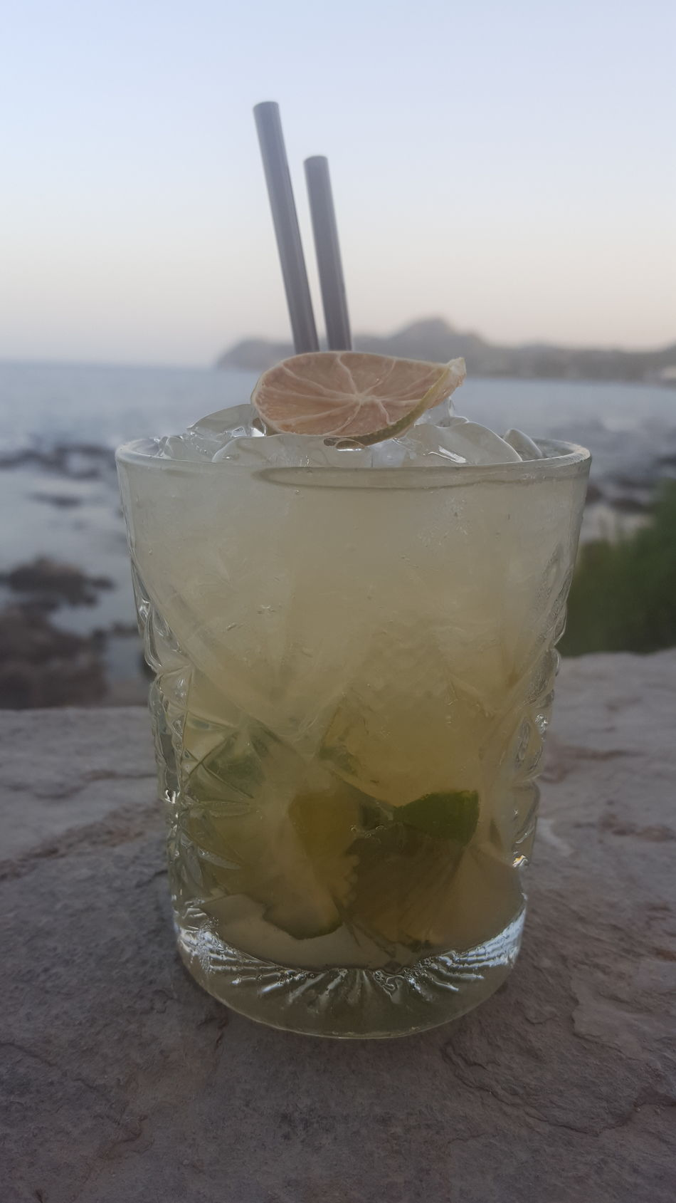 First Eyeem Photo Cala Ratjada Tapas Sundown Caipirinha Drink Ice Best Time Lime Limette Fresh Alcohol Relaxing