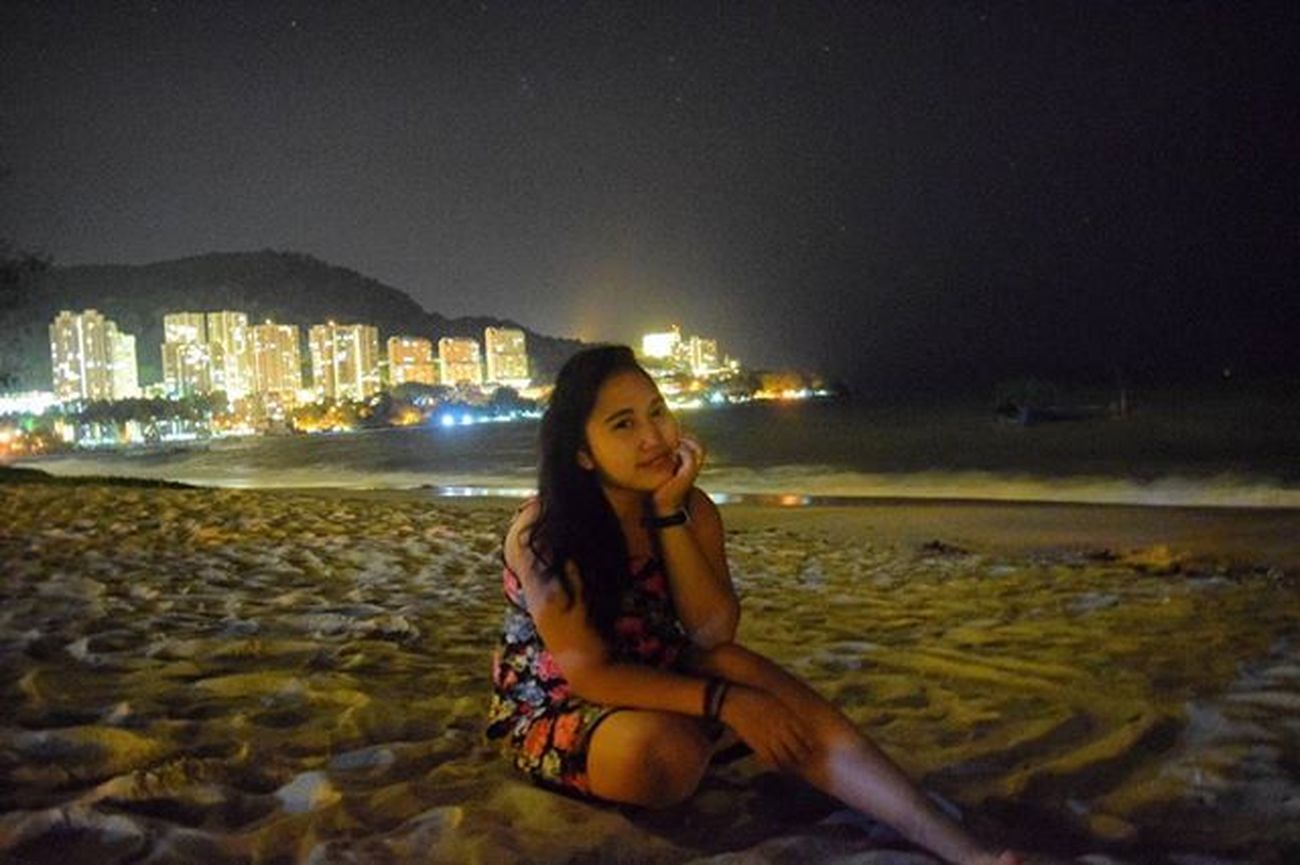 Background lighting of the city Penang far away from crowded, so enjoyfull Lastnightvacation Chinesnewyear Beach Nikon Original