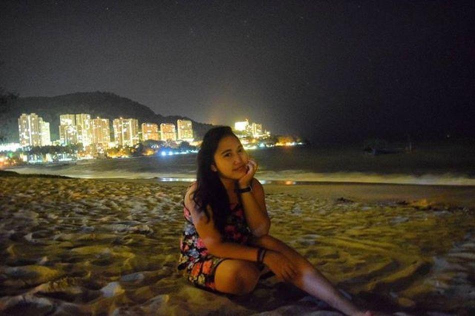 Background lighting of the city Penang far away from crowded, so enjoyfull Lastnightvacation Chinesnewyear Beach Nikon Original